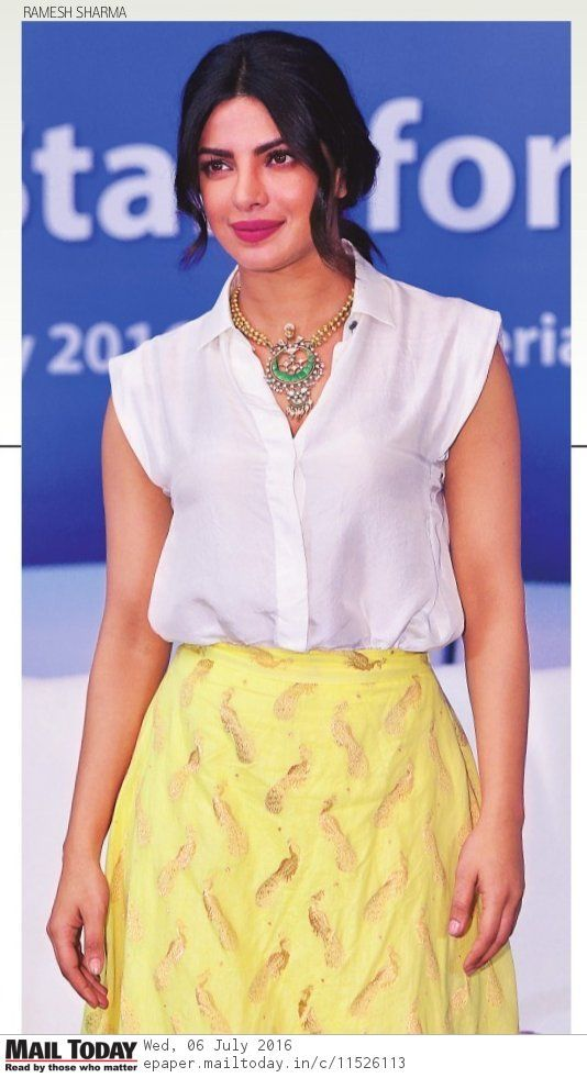 via @topupyourtrip Priyanka Chopra #PeeCee in Delhi 4 @unicef event against #Gender ⚤ disparity in #Literacy (July 5, 2016)