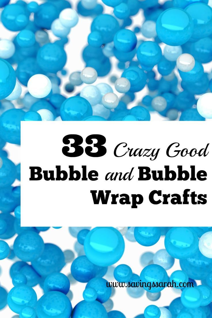 Looking for hours of entertainment for the kiddos and adults for cheap. Check out these 33 clever bubble and bubble wrap crafts and activities.