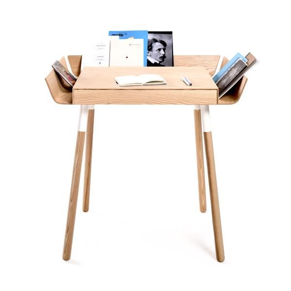 Shop the Red Dot award winning My Writing Desk, designed for EMKO. The modern, natural ash desk features drawers and wings for organising your workspace.