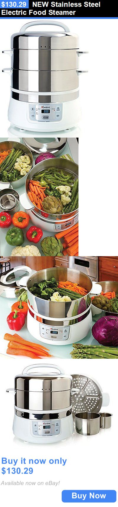 Small Kitchen Appliances: New Stainless Steel Electric Food Steamer BUY IT NOW ONLY: $130.29