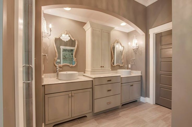 Master Bath vanity cabinet is Kemper cabinetry, Lawton Maple Cloud ...