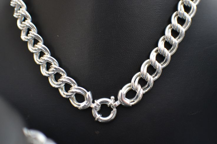 Mother and Child, Large link neck-piece.  Matching bracelet available as a set or stand alone item
