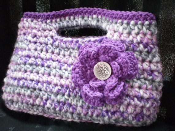 Handbag With Flower Embellishment