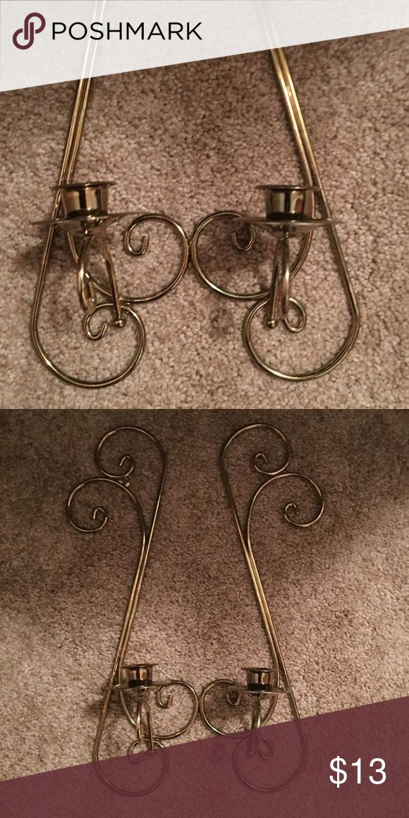 Brass sconces Set of brass sconces great condition. Smoke free home Home interior and Gifts Other
