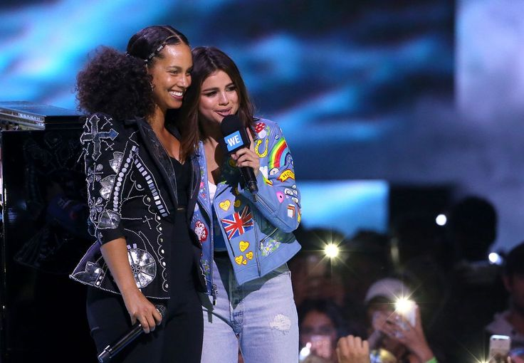 April 27: [More] Selena and Alicia Keys onstage at We Day California in Inglewood, California [HQs]
