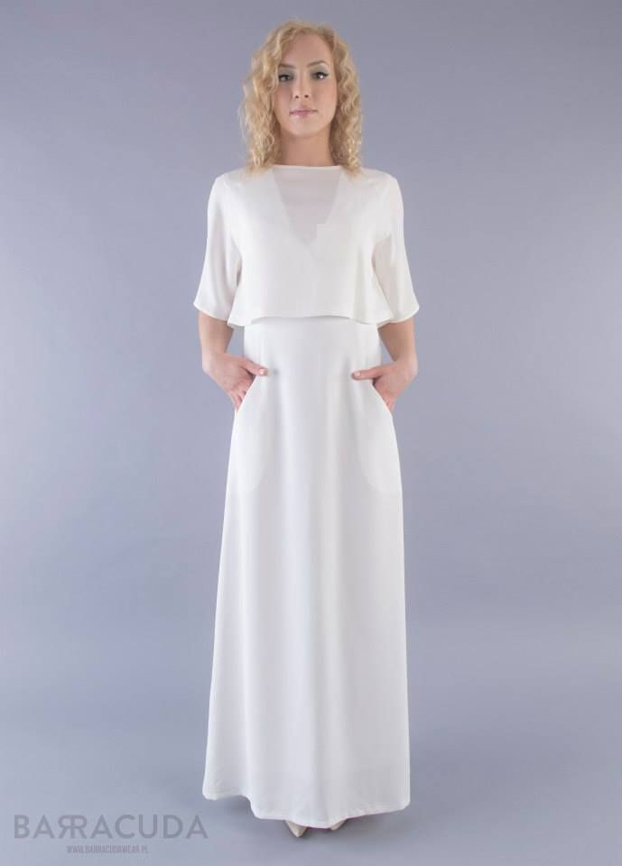 Na zdjęciu: - Krótka bluzka z kieszonką - Długa suknia z kieszeniami #barracudawear www.barracudawear.pl