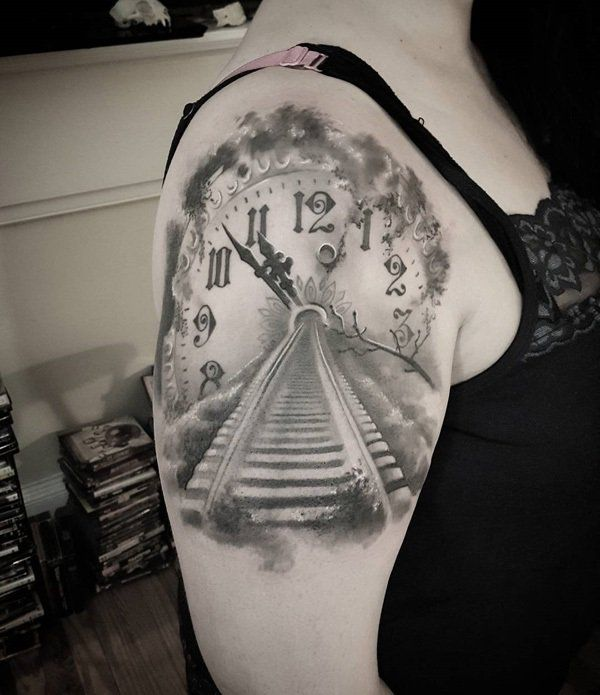 Best 25+ Clock Tattoos Ideas On Pinterest