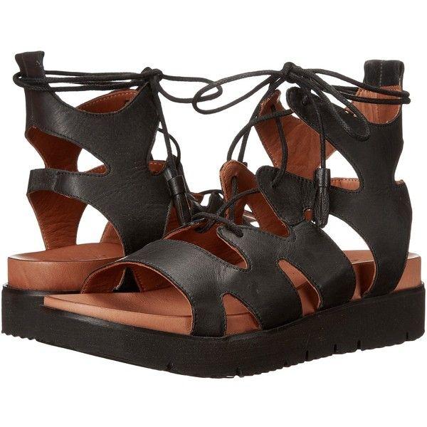 Miz Mooz Tori (Black) Women's Dress Sandals ($110) ❤ liked on Polyvore featuring shoes, sandals, black sandals, mid heel sandals, black gladiator sandals, platform dress sandals and roman gladiator sandals