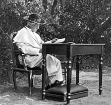 """8/21: Pope Saint Pius X (1835-1914) - a historian wrote that he was """"a man of God who knew the unhappiness of the world and the hardships of life, and in the greatness of his heart wanted to comfort everyone."""" (in the Vatican Gardens, 1913)"""