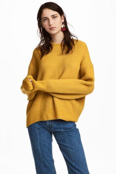 Camisola em malha canelada - Amarelo - SENHORA | H&M PT