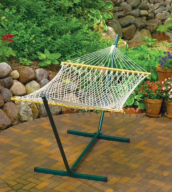backyard creations    single size cotton rope hammock with stand 47 best mother u0027s day gifts images on pinterest   backyard ideas      rh   pinterest