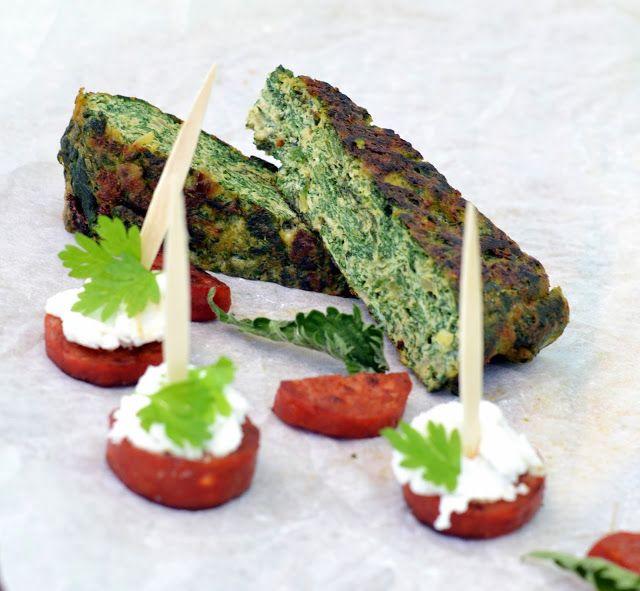 cookvalley - tanker om mad: Frittata med 2 slags brændenælde og ricotta.