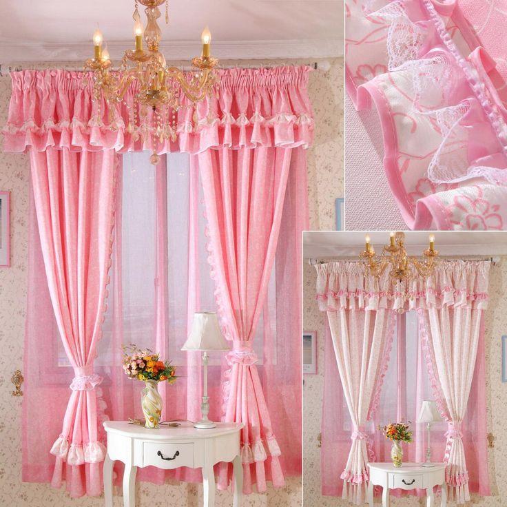 die besten 25 gardinen rosa ideen auf pinterest. Black Bedroom Furniture Sets. Home Design Ideas