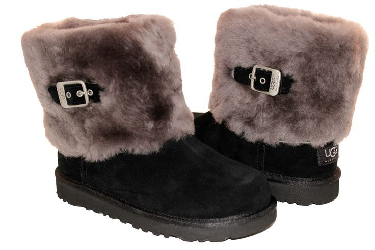 ugg boots with laces  #cybermonday #deals #uggs #boots #female #uggaustralia #outfits #uggoutlet ugg australia Ugg Australia ELLEE Classic Short Black Sheepskin 1001672 Kids Women CUTE Boot ugg outlet
