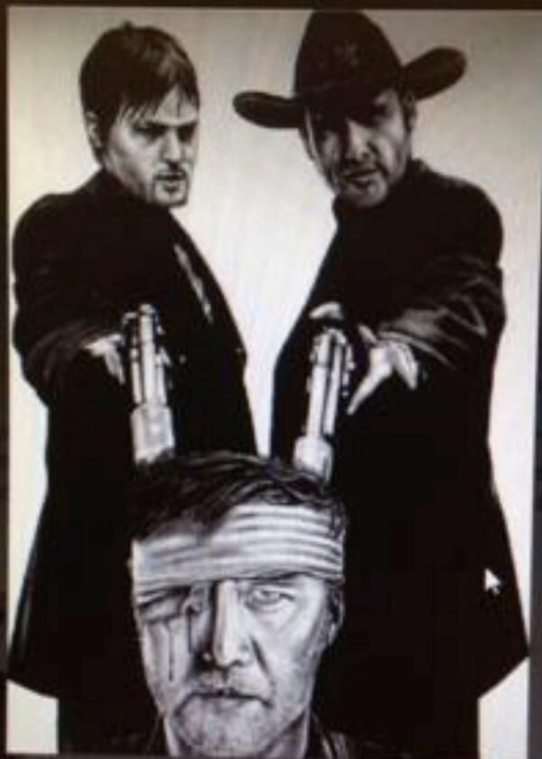 Fan Art that Norman Reedus tweeted (I don't see an artist's name on it) #TheWalkingDead