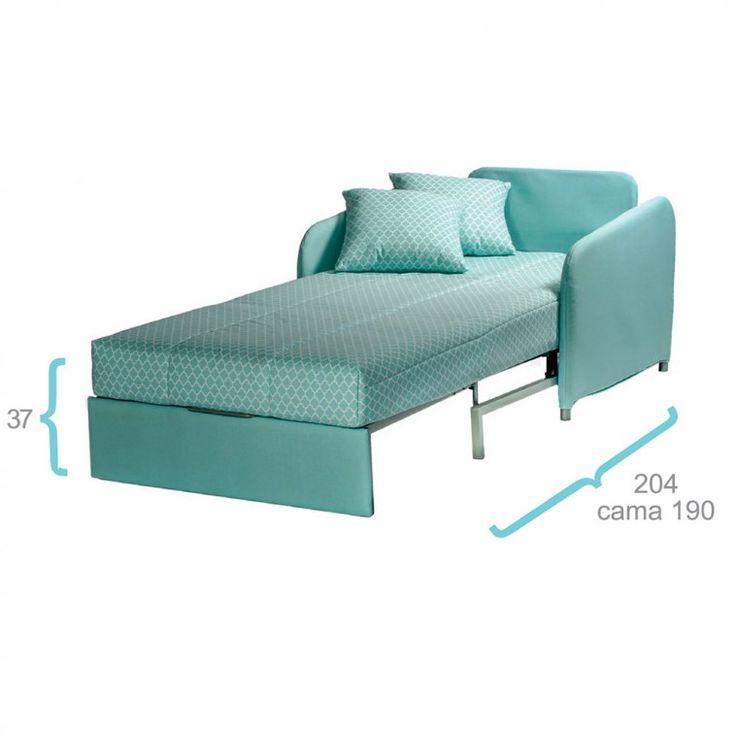 Sillón cama Individual Sena de ES Interiorismo. Puf cama y Sofas cama. Sofás cama 1 plaza