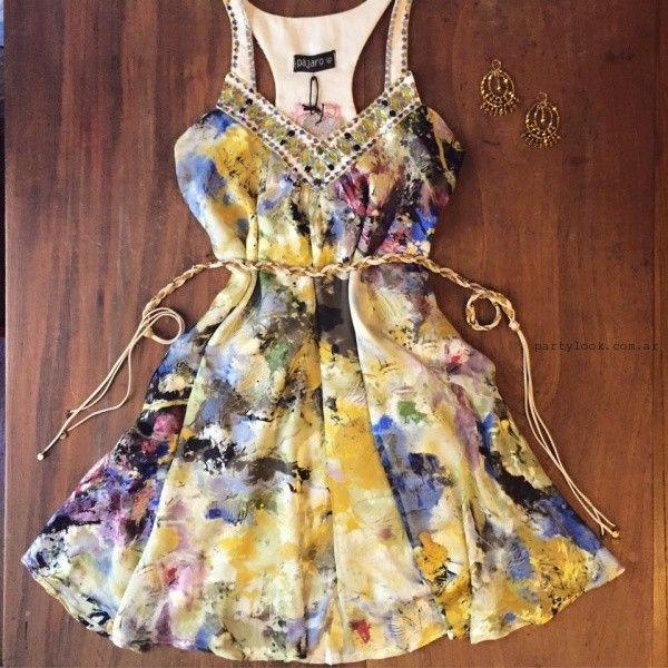 vestidos bordados para fiesta verano 2016 Love Pajaro