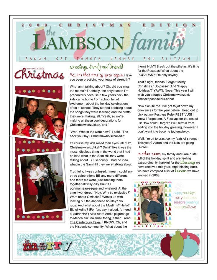 christmas newletter template