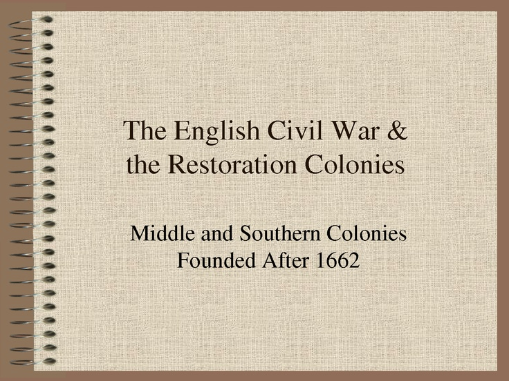 the restoration colonies Methodological assumptions (primarily true of the early progressives economic interests are fundamental or primordial thus, ideas that humans have are surface reflections or justifications for underlying economic motives.