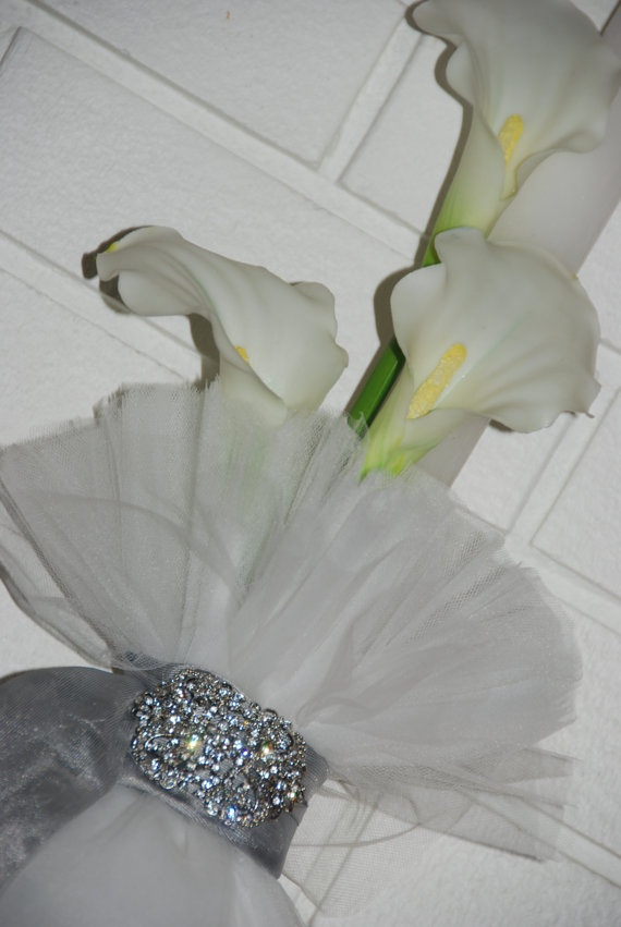 Elegant Crystal and Calla Lily Greek Wedding by KoulEvents on Etsy, $200.00