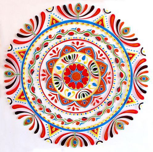 Ugadi rangoli designs threshold art inspire repeatable for Floor rangoli design