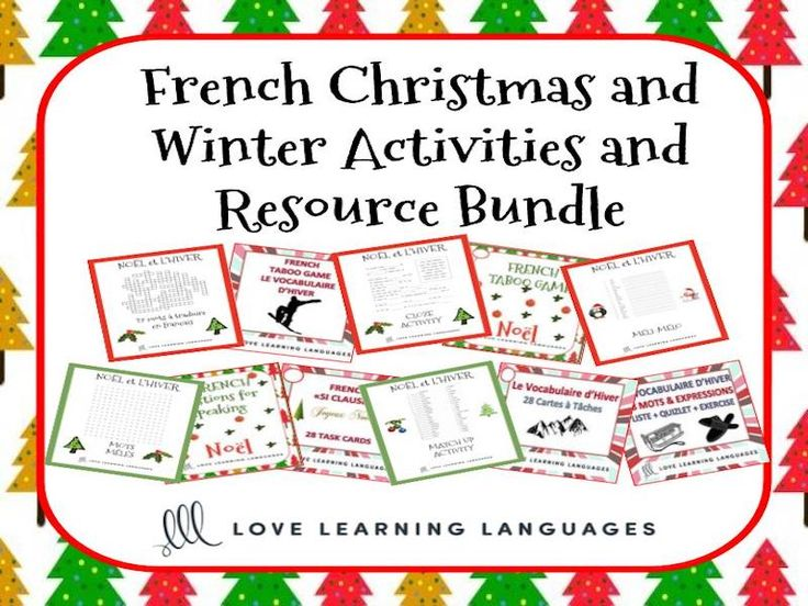 Noël et le Vocabulaire d'Hiver BUNDLE - French Christmas and Winter Activities<br /> <br /> This French winter and Christmas activities bundle is 25% off the regular price. Click on the links below for previews and full descriptions. This bundle includes ...