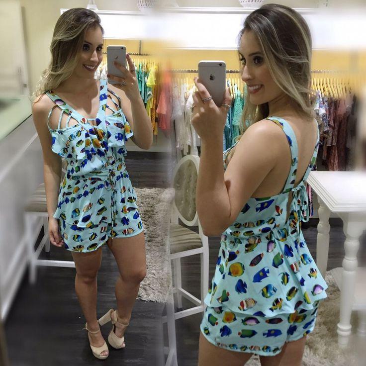 Macaquinho é super feminino e delicadocom estampa de peixinhos então fica PERFEITO❤️ Já pra loja .  Lojas Atacado: Goiânia: Shopping Goiás Center Modas ☎️(62) 3534-5519/(62) 3922-2054 Whatsapp: (62) 98287-3590 (62) 98238-1439 São Paulo: Loja Bom Retiro -SP {Rua Aimorés, 99 - 7º andar / Sala 70} ☎️(11) 2338-9150 Whatsapp (11) 94579-5691 Maringá: Shopping Avenida Fashion, loja 89 ☎️(44) 3027-8237  Whatsapp: (44) 9765-1093  Enviamos para todo país e exterior.