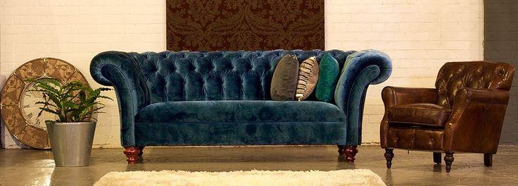 Castleford Fabric Chesterfield Sofa