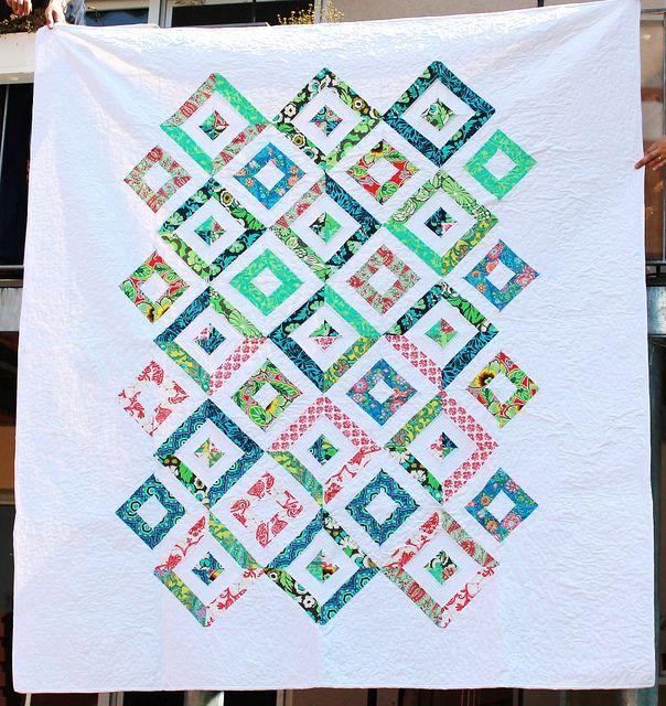 summer in the park quilt. by see kirsten sew via Flickr Missouri Star Quilt