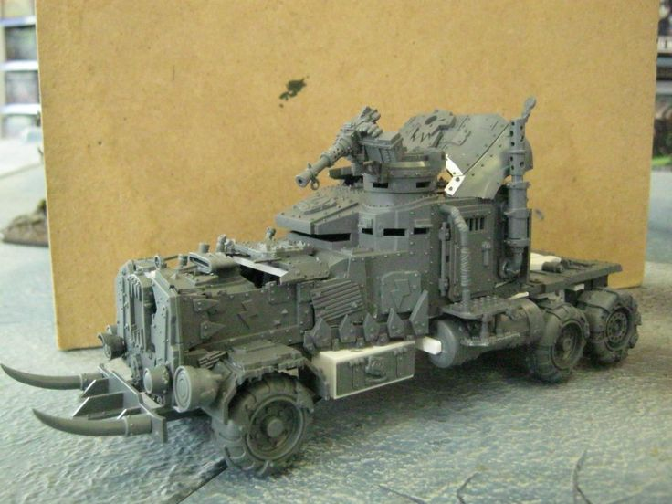 an awesome Ork vehicle. sorry, can't find origin.