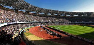 Stadio San Paolo, Napoli | Lostadio San PaolodiNapoli, giàdel Sole, sorge nel quartiere diFuorigrottaed è il principale impianto polisportivo della città, dotato di palestre polifunzionali e di arti marziali, e di un campo da pallacanestro. È conosciuto soprattutto dal punto di vista calcistico, essendo sede delle partite interne dellaSSC Napoli.  È il secondo stadio inItaliaper capienza effettiva dopo ilMeazzadiMilano, e il terzo per capienza omologata dopo, ancora, il Meazza e…