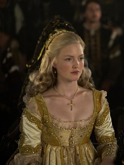 Holliday Grainger as Lucrezia Borgia in The Borgias (TV Series, 2011).  The dialogue in this series was turgid, but the costumes were inspired!