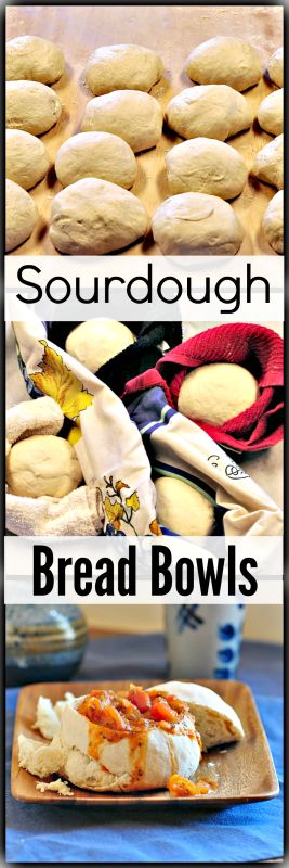 Sourdough Bread Bowls - What could be better than no dishes to wash? Eating your dishes when they are as delicious as these sourdough bread soup bowls are! Plus, they are easy to make!