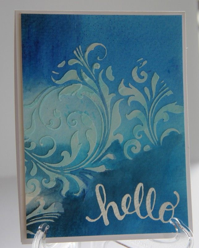 IC549, Hello Flourish by bwstamper - Cards and Paper Crafts at Splitcoaststampers