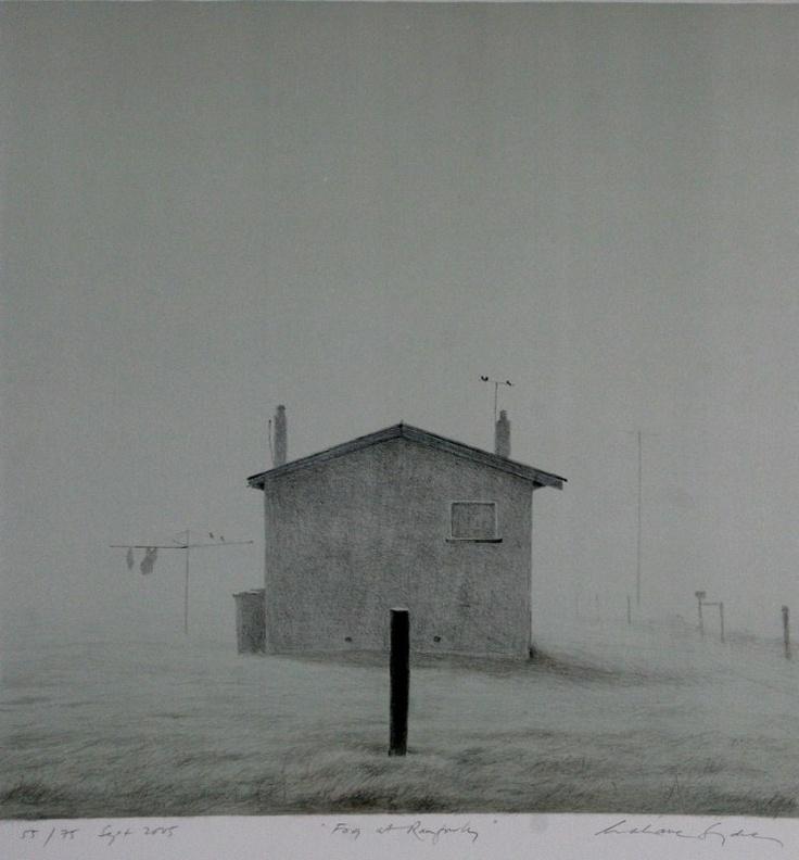 Grahame Sydney - Fog at Ranfurly, 2005, litho on paper