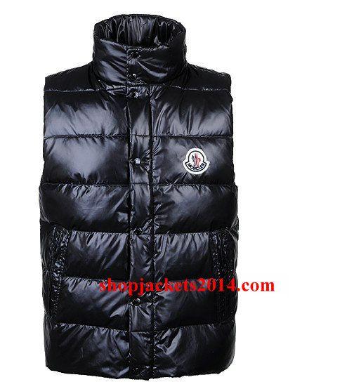Moncler Outlet UK Lovers Vest Single-breasted Black