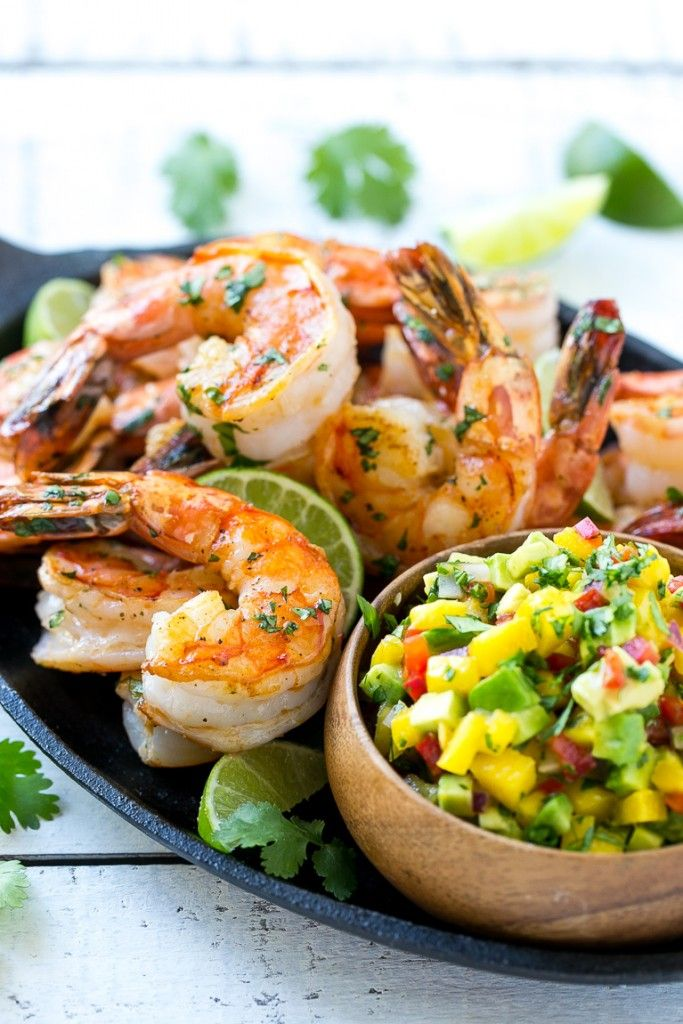 This recipe for cilantro lime shrimp with mango avocado salsa is a quick yet impressive dinner or appetizer that's full of flavor and color. Best of all, it's ready in just 20 minutes!