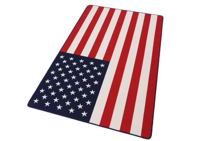 Designteppich rot, B/L: 134x200cm, 9mm, »USA Flagge«, fußbodenheizungsgeeignet, strapazierfähig, Hanse Home Jetzt bestellen unter: https://moebel.ladendirekt.de/heimtextilien/teppiche/sonstige-teppiche/?uid=9eb90456-963b-56b6-adc6-16cf171f50b4&utm_source=pinterest&utm_medium=pin&utm_campaign=boards #heimtextilien #designteppich #sonstigeteppiche #teppiche