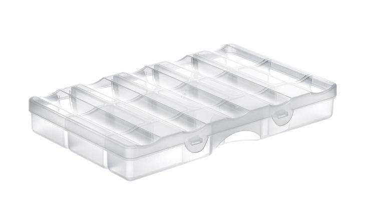 låda, SmartStore Home, martStore Home från Hammarplast är ett flexibelt förvaringssystem med hållbara, stabila boxar med lock och en säker låsning i clipshandtaget. Dessutom är lådorna stapelbara. Färg: Transparent Mått: l:25 b:16 h:4 cm Material: Plast Varumärke: SmartStore