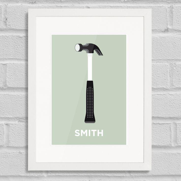 Pate Hammersmith Art Poster Print White Frame