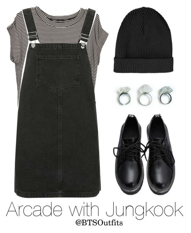 """Arcade with Jungkook"" by btsoutfits ❤ liked on Polyvore featuring Topshop"