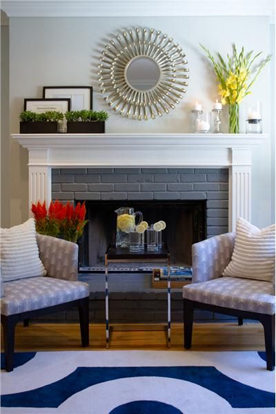 Classic Contemporary Living Room by shirry dolgin. Love this mantle