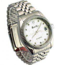 Blanc avec un calendrier automatique montre mécanique