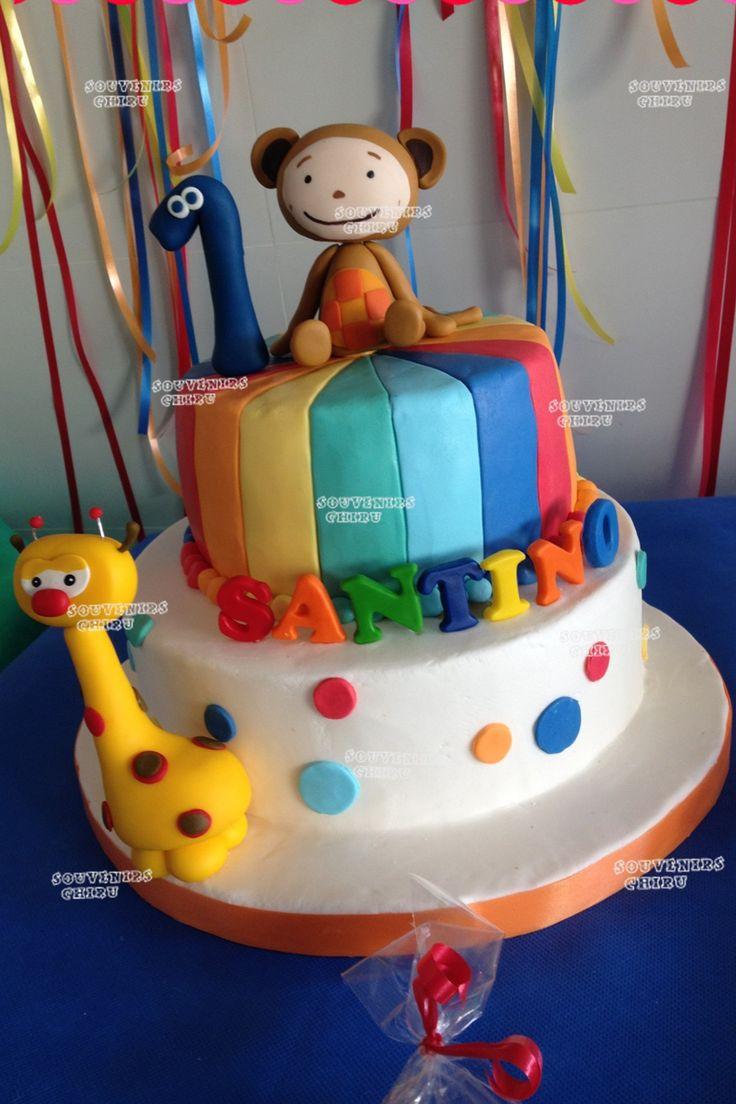 Torta Baby Tv. Pastel Baby tv. Candy Bar Baby Tv- souvenirs personalizados Baby Tv.