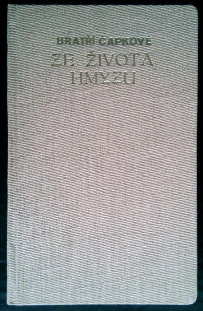 rare czech avant-garde Karel and Josef Capek signature 1932 Ze zivota hmyzu n.27