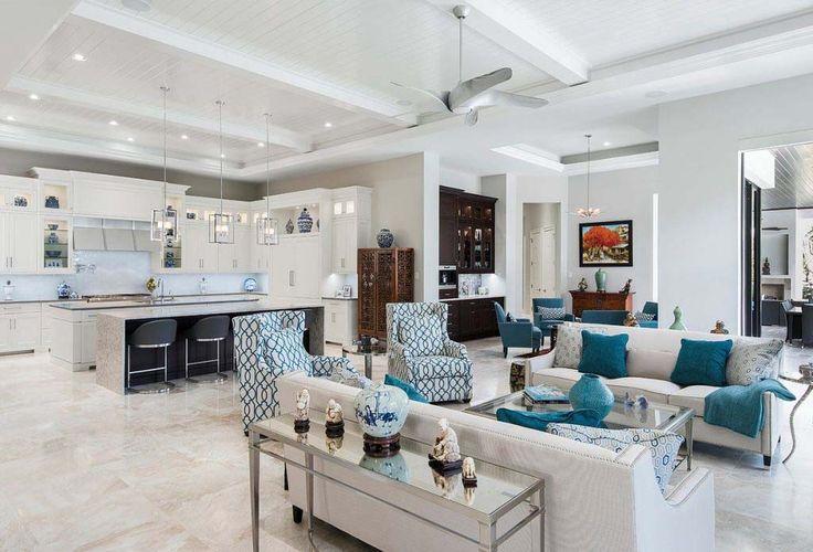 Custom estate home with elegant design features in Naples