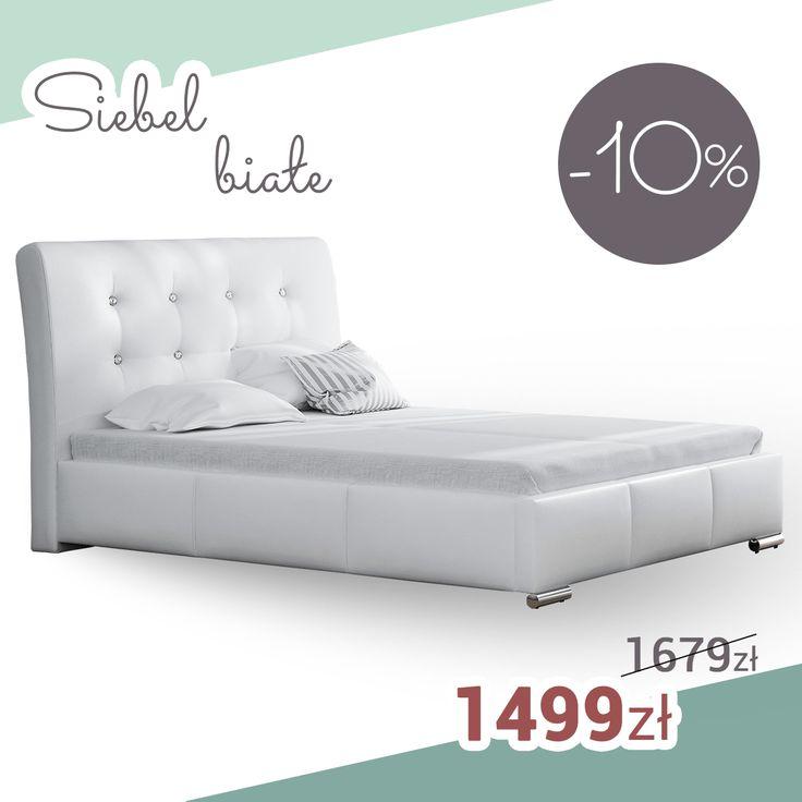 White bed in glamour style! SALE%%%% Białe łóżko w stylu glamour! SUPER PROMOCJA!   End of the promotion. Regular price. Koniec promocji. Cena regularna.  #bed #white #mirjan24 #glamour