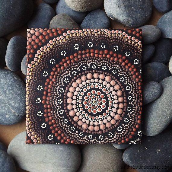 Punto arte pintura diseño de tierra aborigen por RaechelSaunders