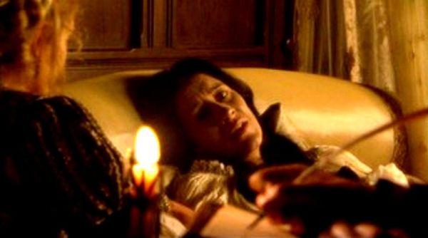Cena da morte de Catarina de Aragão, extraída da segunda temporada de The Tudors (2008).