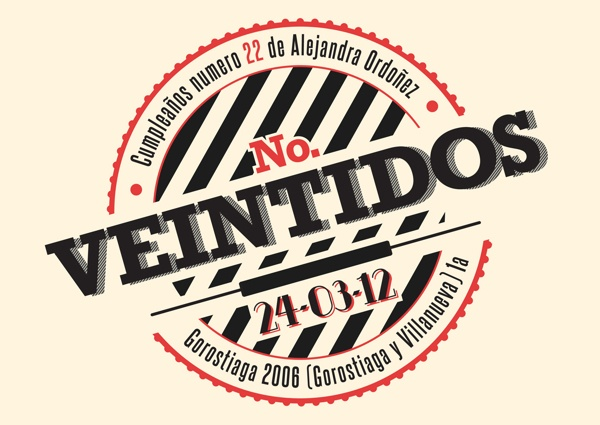 No. Veintidos by Fausto Acosta, via Behance